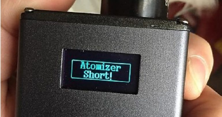 What to do when your vape signals for Atomizer Short