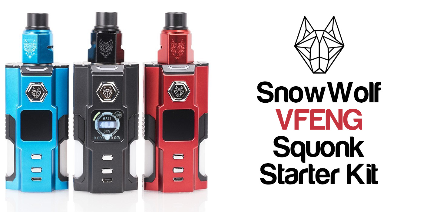 SnowWolf VFENG Squonk Starter Kit Review