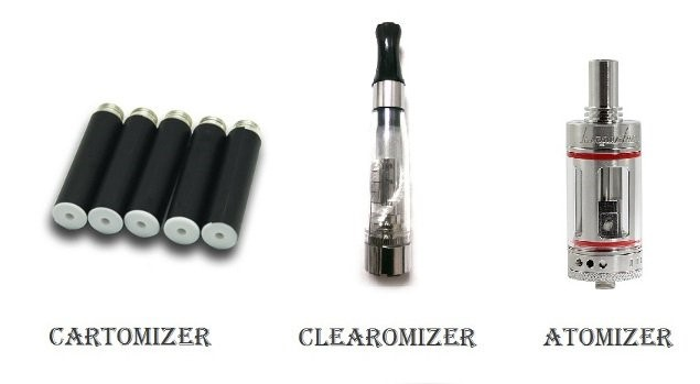 Atomizer vs Cartomizer vs Clearomizer